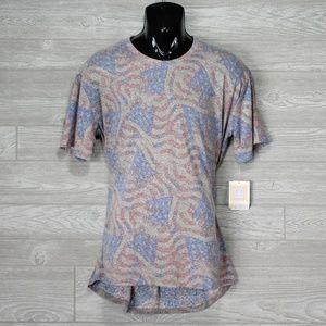 LulaRoe Patrick American Flag Tee Shirt Size XL